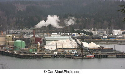 Harbor Factory Pollution - A shot of pollution pouring out...