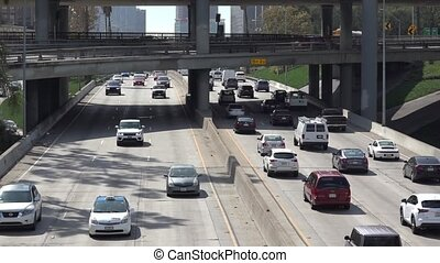 Harbor Freeway in Los Angeles - Los Angeles Harbor freeway...