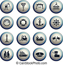harbor icon set - harbor web icons for user interface design