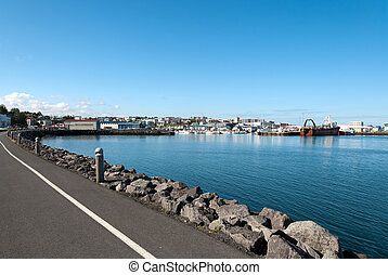 harbor in Iceland