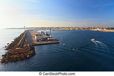 harbor in Porto Torres