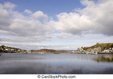 Harbor in Tarbert, Scotland