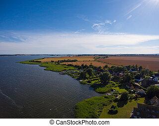 Harbor of Breege on Ruegen Island at Baltic Sea