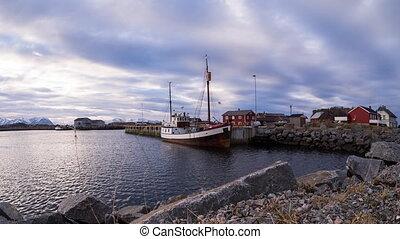 harbor of Laukvik on the Lofoten