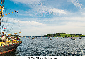 Harbor of Lunenburg during Tall Ship Festival 2017