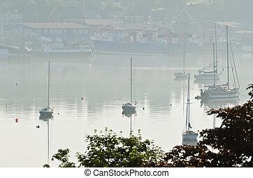 Harbor of Lunenburg, Nova Scotia, Canada.