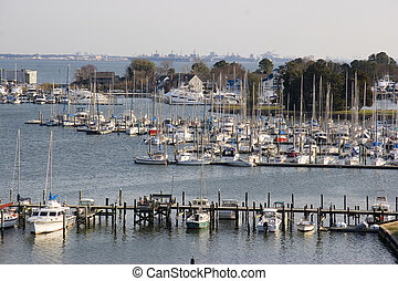 Harbor off of the Chesapeake Bay