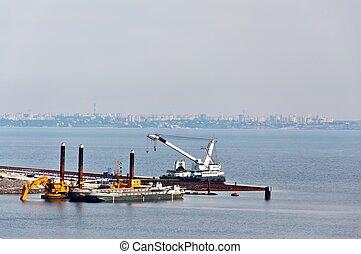 Harbor under Construction