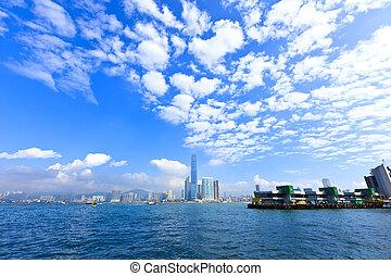 Harbor view in Hong Kong