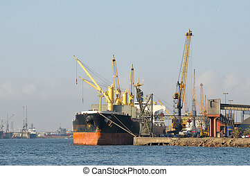 Harbor, Walvisbay, Namibia - The harbor at Walvisbay in...