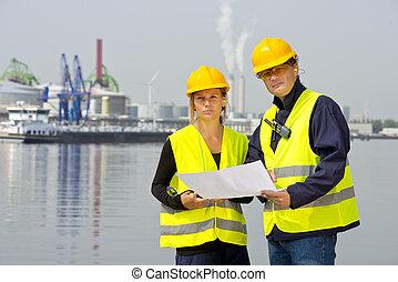 Harbor workers