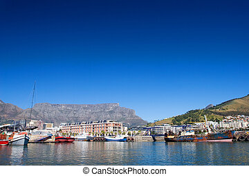 Boats at Cape Town Harbour, South Africa
