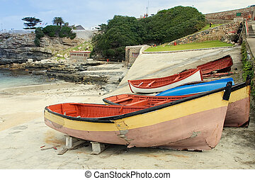 Derelict boats on Hermanus Harbour, South Africa