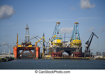 Mega structures in the Port of Rotterdam