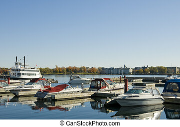harbour and pleasure boats