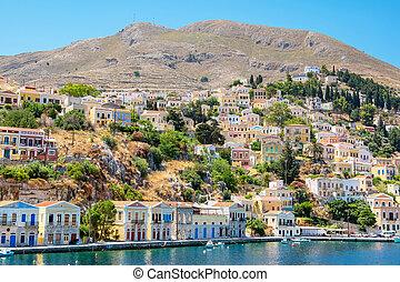 Harbour at Symi. Greece