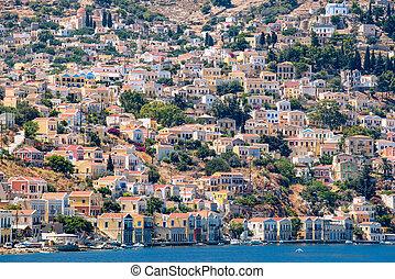 Harbour at Symi Island. Greece