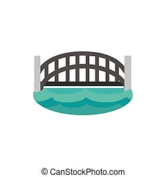 harbour bridge landmark australia icon on white background