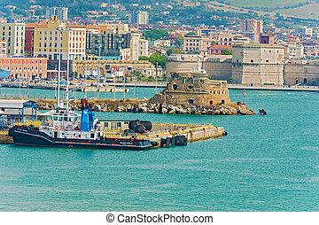 Harbour in Civitavecchia, Italy - Civitavecchia, Italy -...