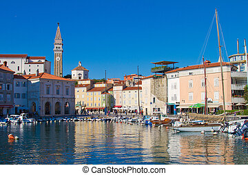 Piran - Harbour of Piran in Slovenia