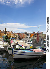 harbour of rovinj, croatia