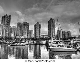Harbour of Vancouver city,