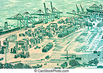 Harbour on Currency Note