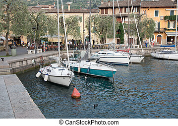harbour scene at lake garda