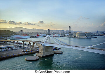 Harbour view of Barcelona