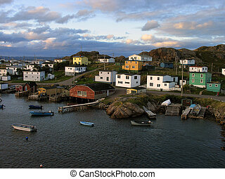Harbour Village in Ramya Island, St-Johns, Newfoundland,...