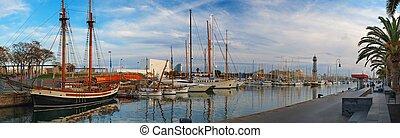 harbour, yachts, барселона, посмотреть