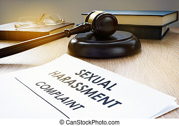 harcèlement, desk., marteau, sexuel, plainte