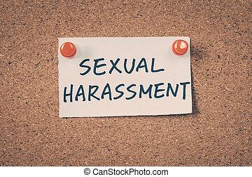 harcèlement, sexuel