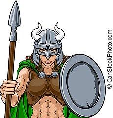 harcos, viking, gladiator, kabala, nő, női, befog