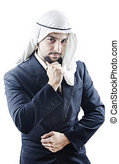 Arab man, think have a dubt