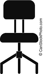 Hard chair icon, simple style.