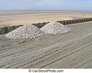 Hard Core - hard core on a beach construction
