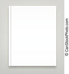 Hard cover blank realistic book, closed organizer or photobook mockup.
