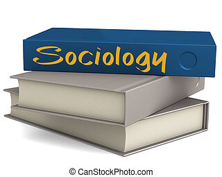 Hard cover blue books with Sociology word - Hard cover books...