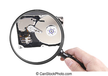 Hard disc investigation - Looking closely at a hard drive ...