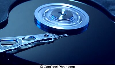 Hard disc - video footage of a spinning hard-disc from...