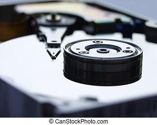 Hard Disk Drive - Computer Hardware, Hard disk drive, macro