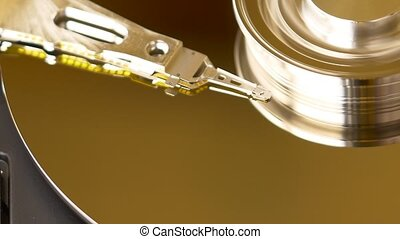 Hard Disk Drive Detail - HDD is a data storage device used...