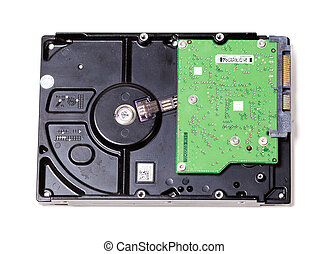 Hard disk drive (HDD) over white background