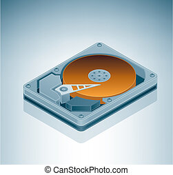 Hard Disk Drive is a part of the Isometric 3D Computer...