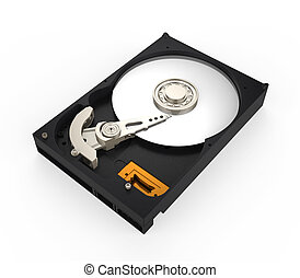 Hard Disk Drive isolated on white background. 3D render