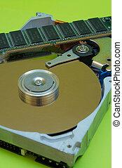 Hard Disk Drive - RA - Close-up view of computer hard disk...