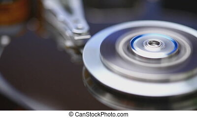 Hard disk drive spin up, initializing and stopping