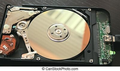 hard disk fix - fixing an open hard drive broken with stuck...
