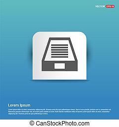 Hard Disk Icon - Blue Sticker button